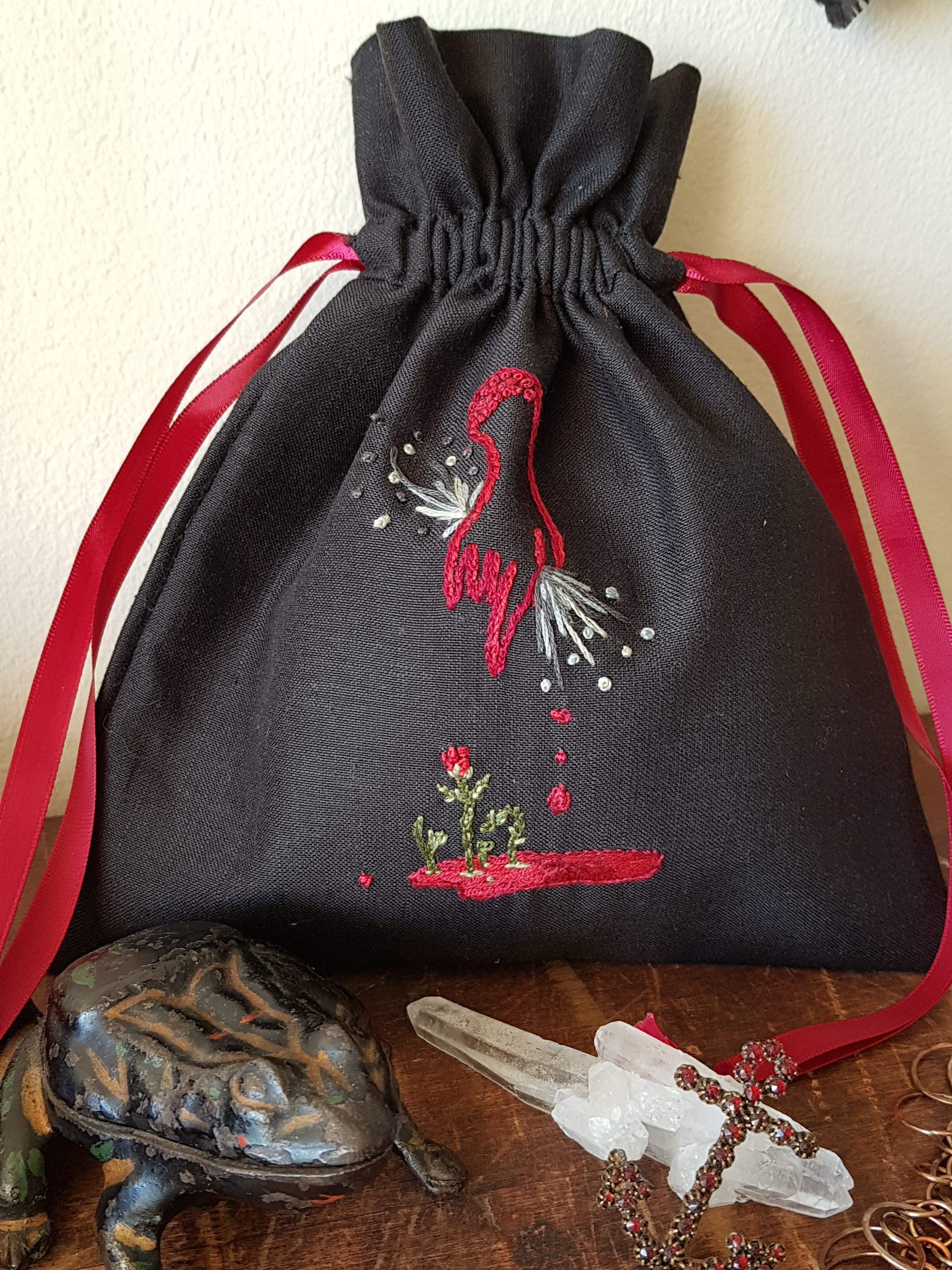 Embroidered pouch Telio's Hand